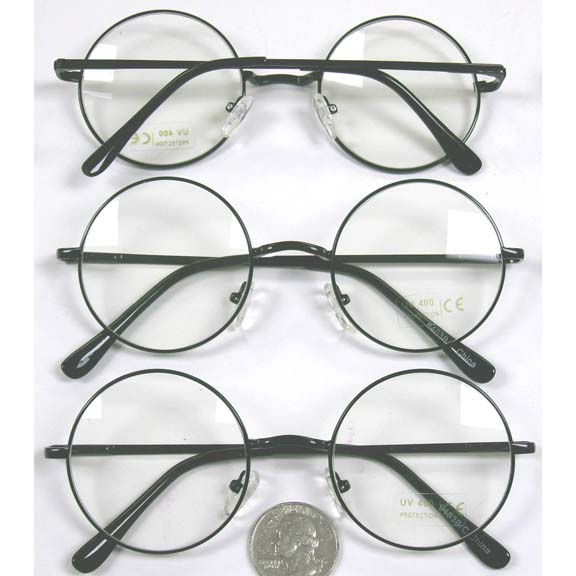 CLEAR LENS, BLACK FRAMES, SPRING TEMPLE QUALITY, HARRY POTTER LK